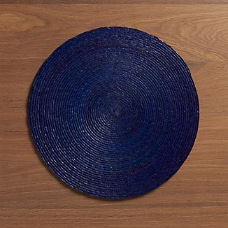 Tropical Palm Indigo Placemat