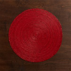 Tropical Palm Red Placemat