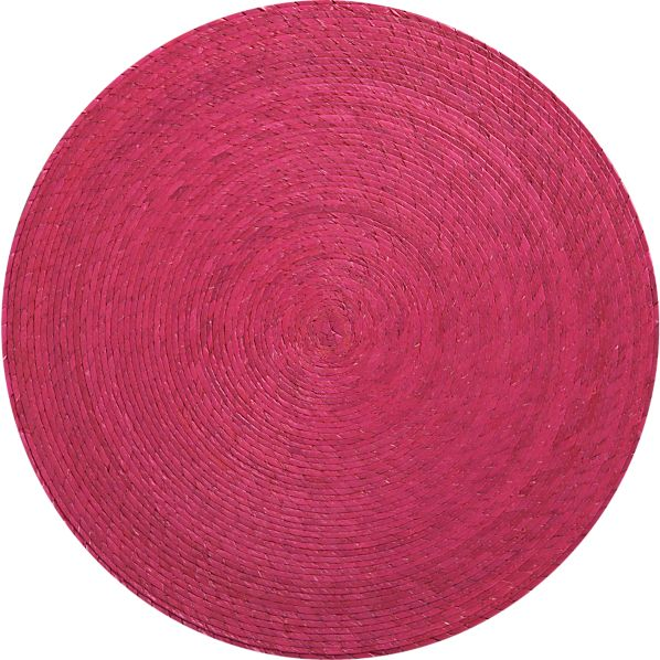 Tropical Palm Hot Pink Placemat