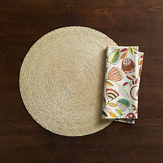 Tropical Palm Natural Placemat and Maisie Napkin