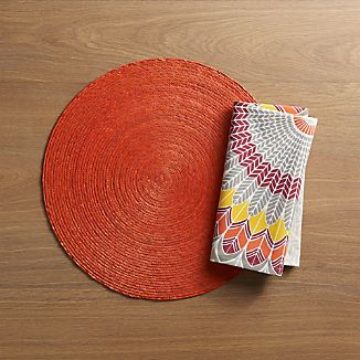 Tropical Palm Spice Placemat and Dakota Napkin