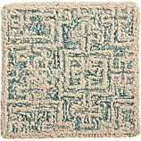 "Trystan Blue Wool-Blend 12"" sq. Rug Swatch"