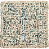 "Trystan Blue Wool-Blend 12"" sq. Rug Swatch"