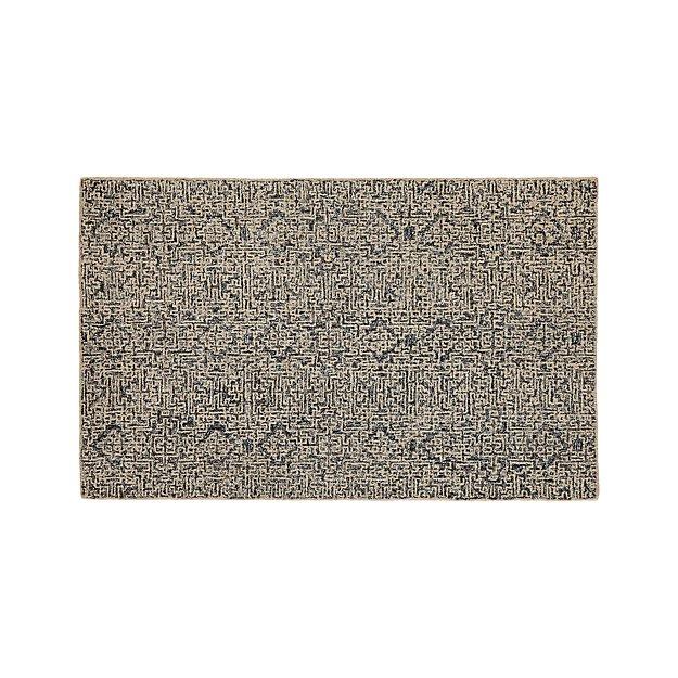 Trystan Indigo Wool-Blend 5'x8' Rug