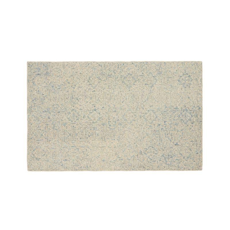 Trystan Blue Wool-Blend 5'x8' Rug