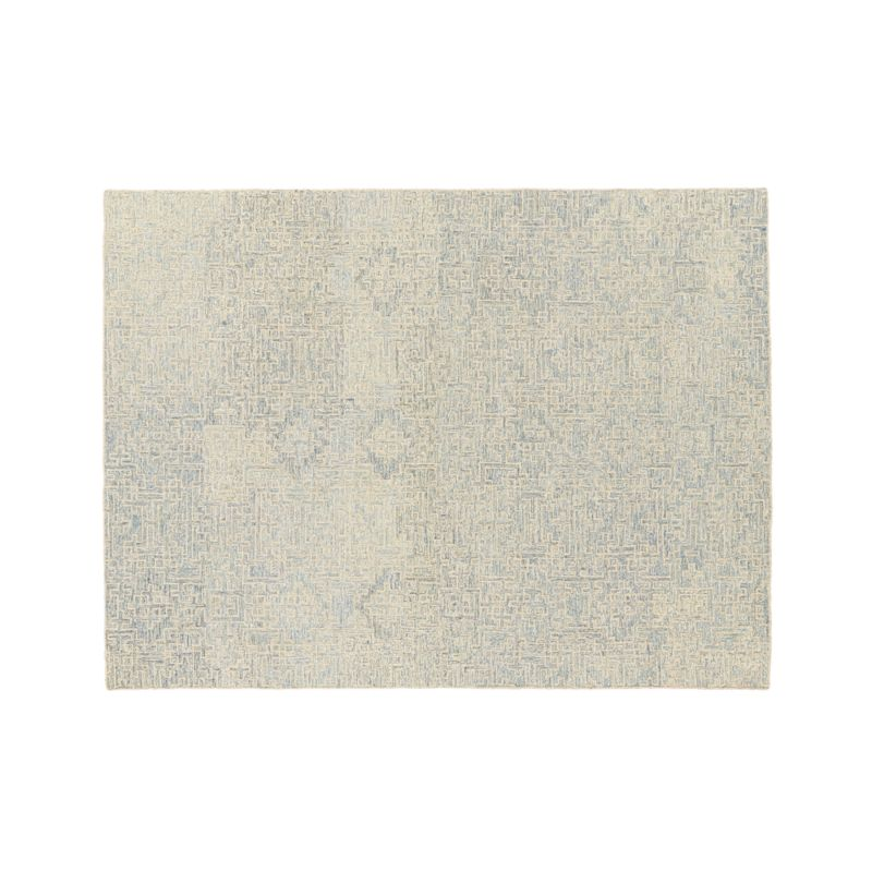 Trystan Blue Wool-Blend 9'x12' Rug