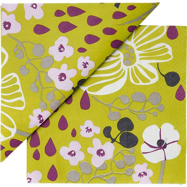 """Set of 20 Marimekko Tuliainen Paper 6.5"""" Napkins"""