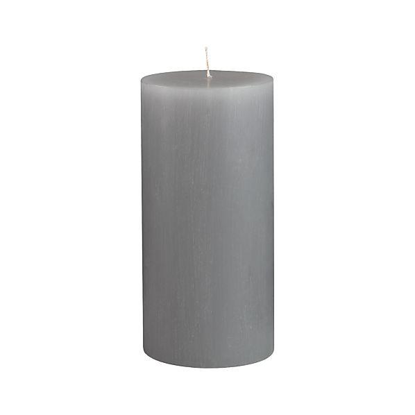 """Tupelo Grey 3""""x6"""" Pillar Candle"""
