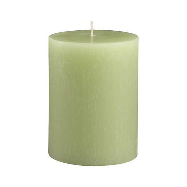 "Tupelo Green 3""x4"" Pillar Candle"