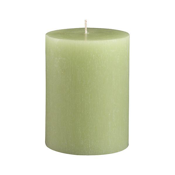 """Tupelo Green 3""""x4"""" Pillar Candle"""