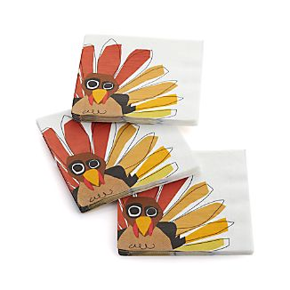 Turkey Paper Luncheon Napkins Set of 20