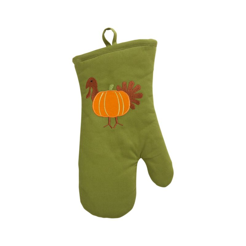 A whimsical celebration of autumn's favorite foods joins a harvest pumpkin and turkey in appliqué and embroidery on cotton.<br /><br /><NEWTAG/><ul><li>100% cotton</li><li>100% polyester embroidery</li><li>Machine wash, tumble dry</li><li>Made in India</li></ul>