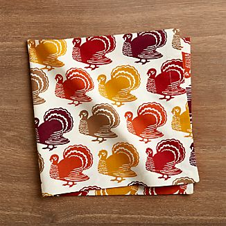 Turkey Trot Cloth Dinner Napkin