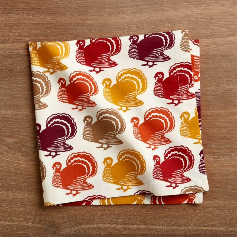 Turkey Trot Cloth Dinner Napkin
