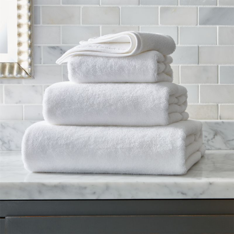 Turkish Cotton White Bath Towels Crate And Barrel