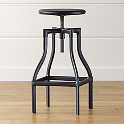 Turner Stool Linen Cushion With Skirt Crate And Barrel