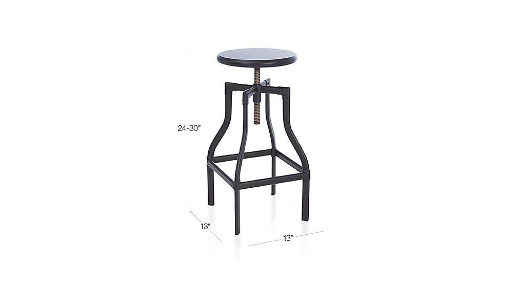 Turner Black Adjustable Backless Bar Stool Crate And Barrel