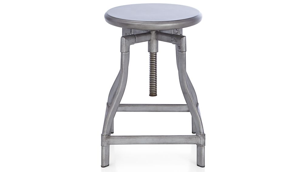 Turner Gunmetal Adjustable Backless Counter Stool Crate