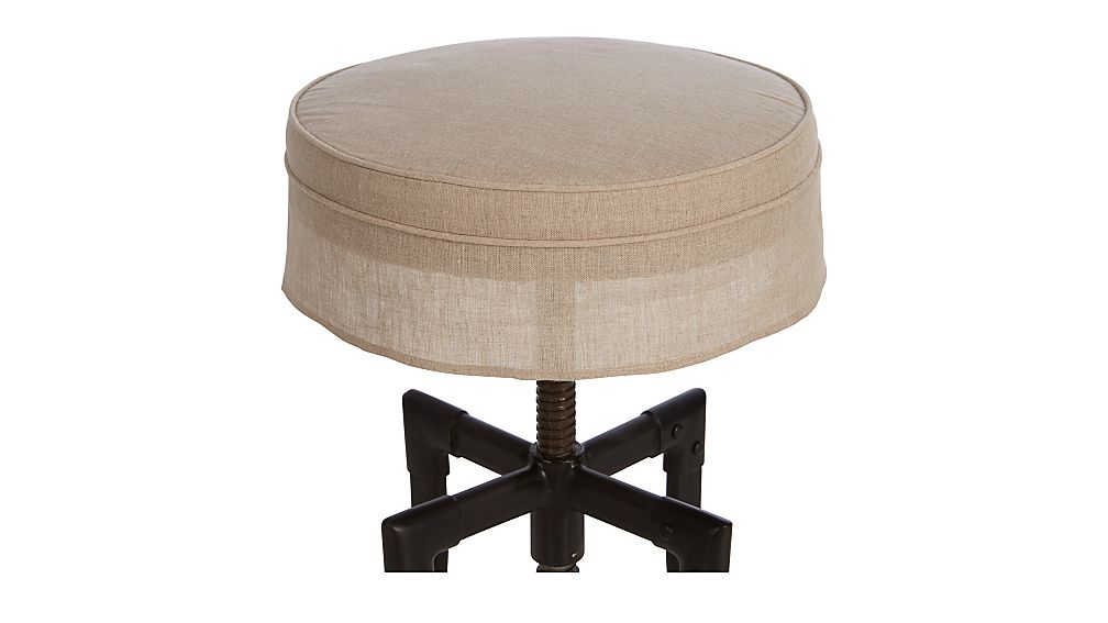 Turner Stool Linen Cushion with Skirt