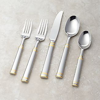 Tuscany Gold Band 5-Piece Flatware Place Setting