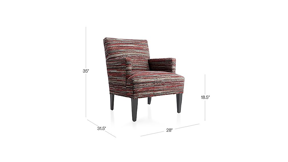 Red Striped Accent Chair Crate And Barrel