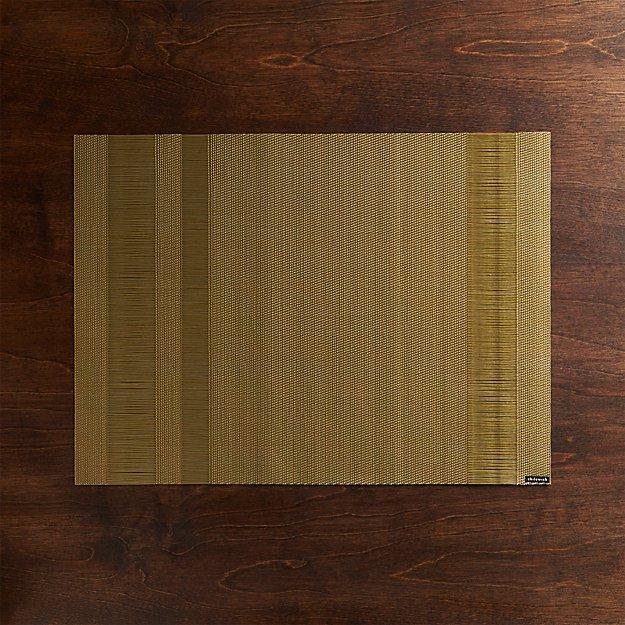 Chilewich ® Tuxedo Gold Vinyl Placemat