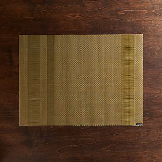 Chilewich ® Tuxedo Gold Vinyl Placemat