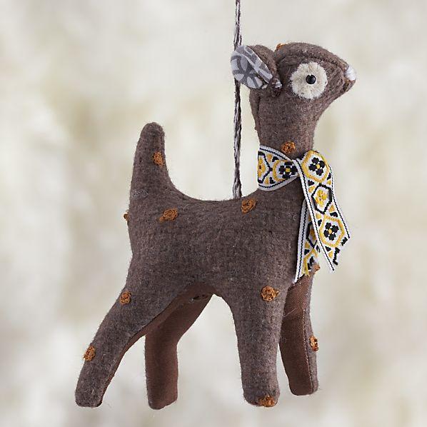 Tweed Deer Ornament
