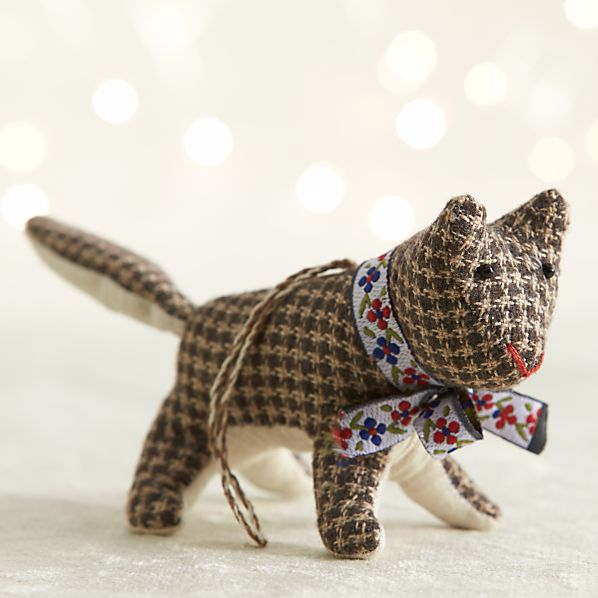 Tweed Fox Ornament