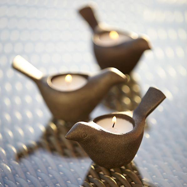 Tweet Bird Tea Light Candle Holder