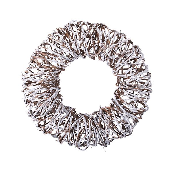 Twig Snow Wreath