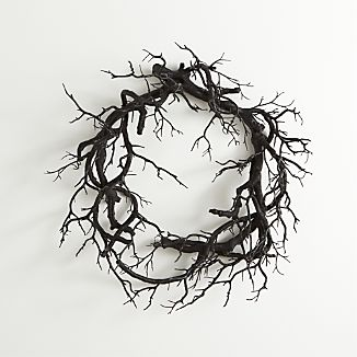Black Branch Artificial Wreath