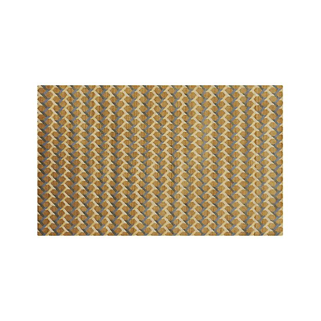 Twine Striped Hand Knotted Wool 5'x8' Rug