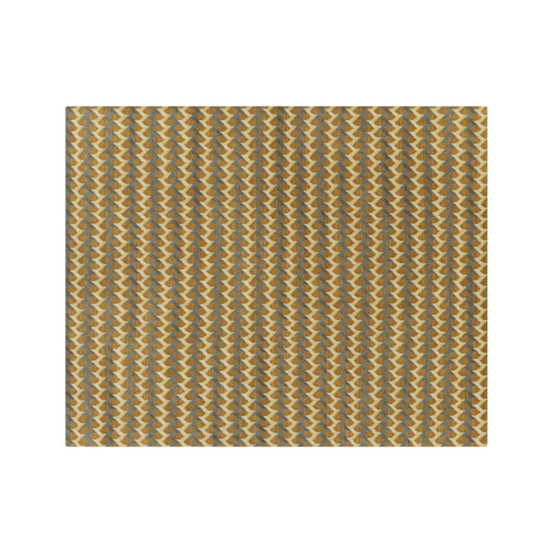 Twine Striped Hand Knotted Wool 8 X10 Rug Crate And Barrel