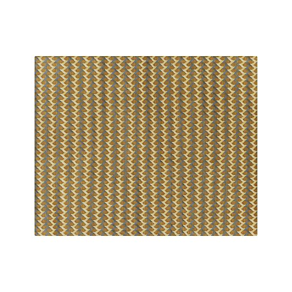 Twine Striped Hand Knotted Wool 8 X10 Rug In Twine