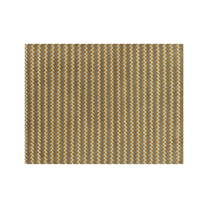 Twine Striped Hand Knotted Wool 10 X14 Rug Crate And Barrel