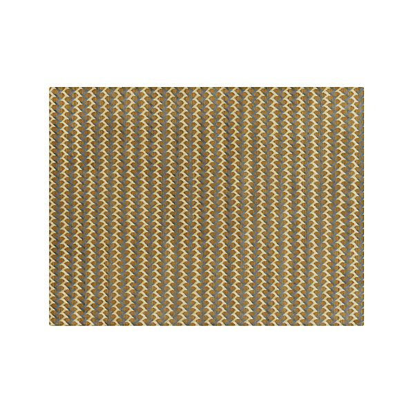 Twine Striped Hand Knotted Wool 9 X12 Rug