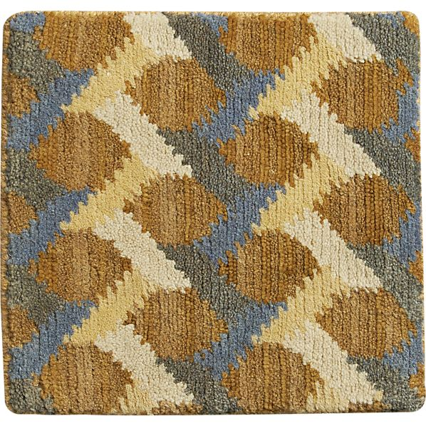 "Twine Striped Hand Knotted Wool 12"" sq. Rug Swatch"