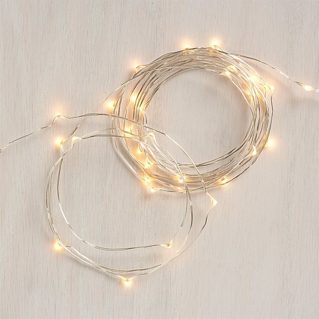 Twinkle Silver 10' String Lights