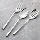 Twist 3-Piece Serving Set: serving fork, serving spoon, pierced serving spoon.