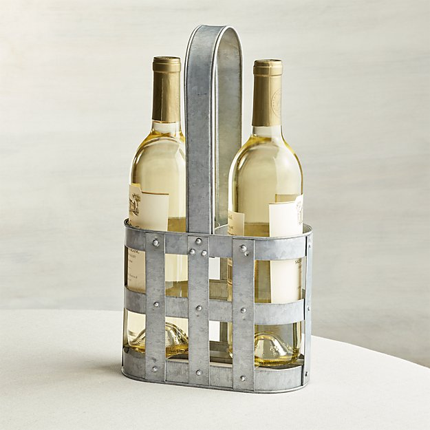2 Bottle Wine Caddy Crate And Barrel