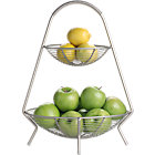 Handled 2-Tier Wire Fruit Basket.