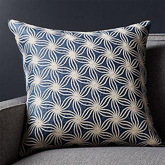 "Tyde Blue 20"" Pillow with Down-Alternative Insert"