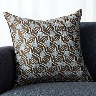 """Tyde Earth 20"""" Pillow wiht Feather-Down Insert"""