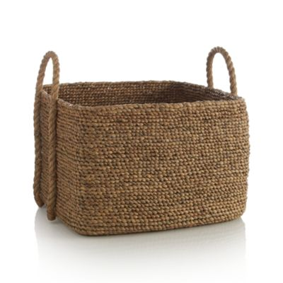 Tyler Square Basket with Rope Handle
