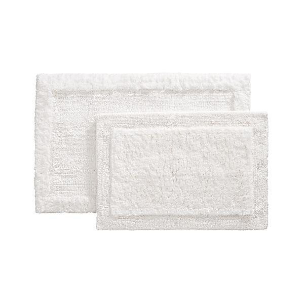 Ultra Spa White Bath Rugs