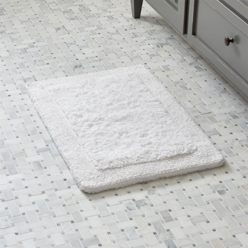 "White Ultra Spa 17""x24"" Bath Rug"