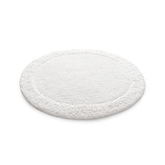 "Ultra Spa White 24"" Round Bath Rug"