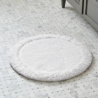 "Ultra Spa White 24"" Round Bath Rug"