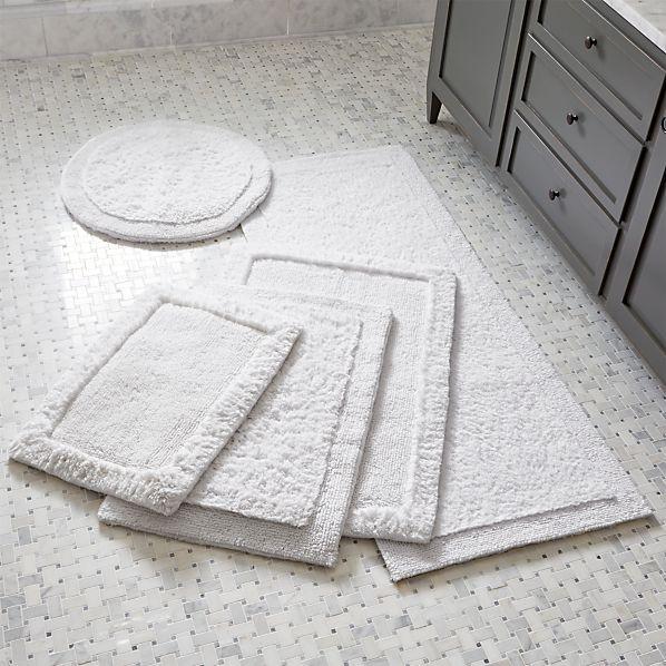 Ultra Spa White Bath Rugs